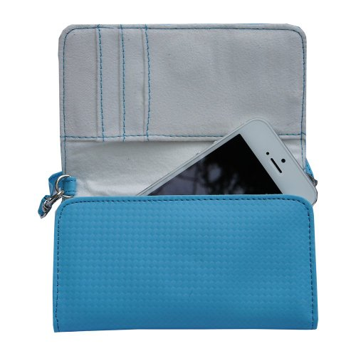 Gomadic Blue Women Purse Case for Samsung devices Hand and Shoulder Straps Included