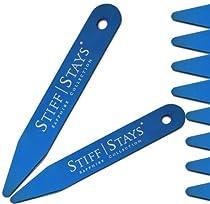 Stiff Stays - Limited Edition Sapphire Collection Collar Stays (4 Pair Combo Set w/ Bonus Glass Storage Vial)