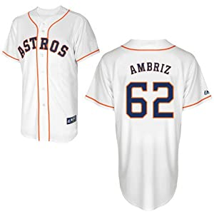 Hector Ambriz Houston Astros Home Replica Jersey by Majestic by Majestic