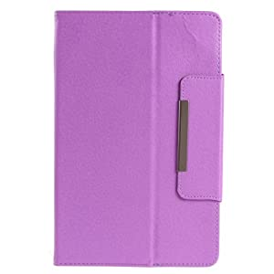 NSSTAR Universal Faux Leather Carrying Case Folio Faux Leather Stand Flip Cover with Magnetic Snap for 7 Inch Android Tablet PC with 16:9 screen(Magnetic Snap:Purple) from NSSTAR