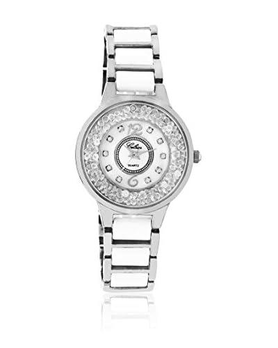 CERAM BY ART DE France Reloj de cuarzo Woman Round Blanco / Plateado 36 mm