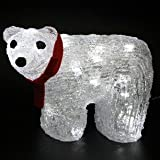 Christmas Polar Bear LED Light with Red Bow by Lights4funby Lights4fun