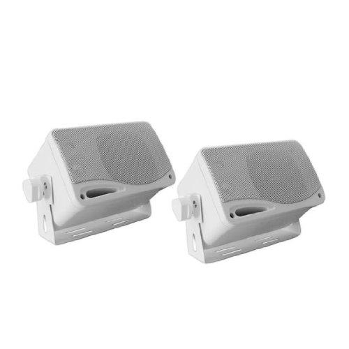 Enrock EKMSW35 200-Watt 3.5mm Box Marine Waterproof Speaker System - White