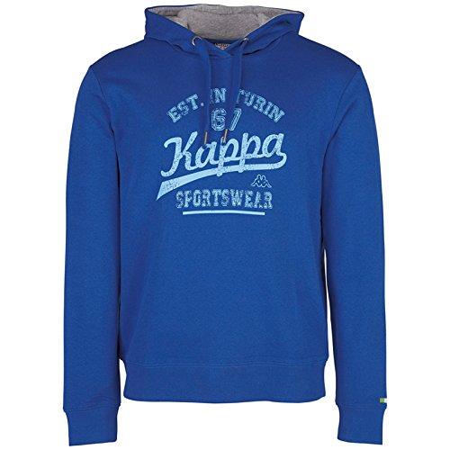 Kappa-Felpa Wanja con cappuccio, Uomo, Wanja Hooded Sweatshirt, Acque profonde, XXL