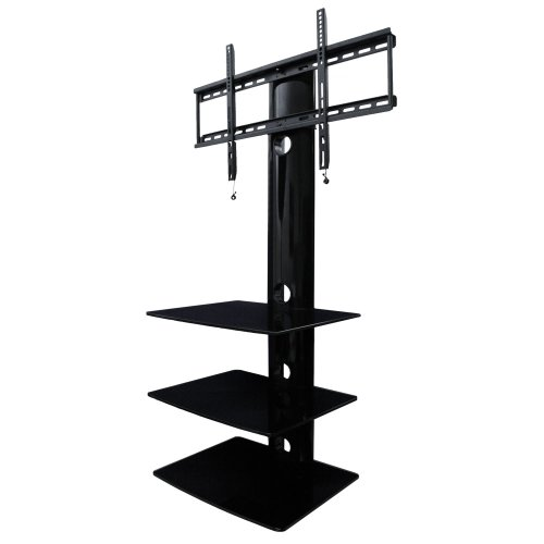 Swiveling Tv Wall Mount With Three Shelves (Shelf)