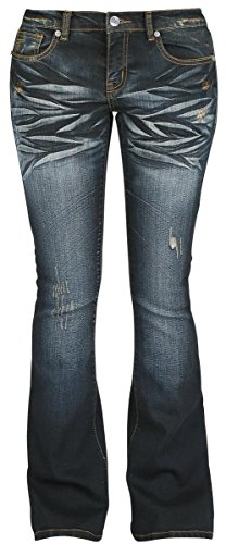R.E.D. by EMP Grace (Boot-Cut) Jeans donna blu scuro/effetto stinto W30L32