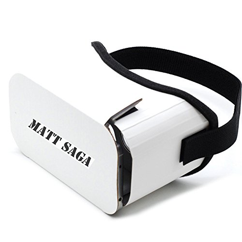 """Google Cardboard V2, MATT SAGA 2016 Newest Version 3D VR Headset DIY Glasses Virtual Reality BOX II Kit For All 4.7""""-5.5"""" Smartphones with IOS/Android for 3D Movies and Video Games"""