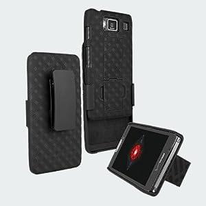 SANOXY® Motorola DROID RAZR MAXX Shell Combo w/Holster & Kickstand MOT912M