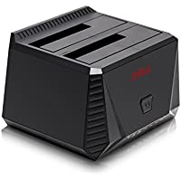 SYBA SY-ENC50071 USB 3.0 UASP Dual Bay Hard Drive Docking Station with Duplicator Support