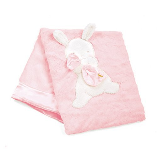 "Bunnies By The Bay My Blankie Blanket, Pink, 28"" x 34"""