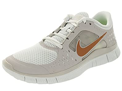 Nike Women's Free Run+ 3 Smmt Wht/Mtlc Rd Brnz/Gmm Gry Running Shoe 6.5 Women US