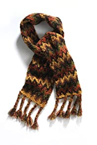 Tabask Hot Flame Stitch Boucle Alpaca Scarf (Multi)