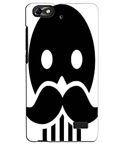 EU4IA Skull With Moustache Pattern MATTE FINISH 3D Back Cover Case For Huawei Honor 4c - D133