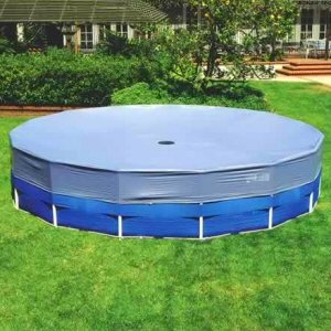 16 ft intex round frame pool cover patio lawn garden. Black Bedroom Furniture Sets. Home Design Ideas