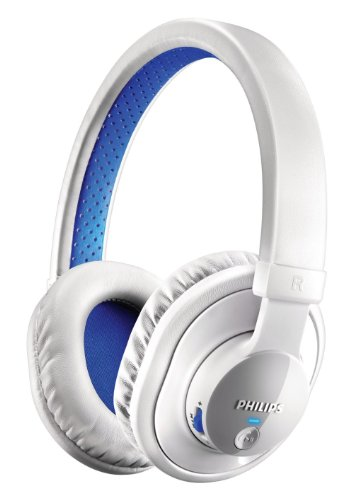 Philips Shb7000Wt/28 Bluetooth Stereo Headset, White