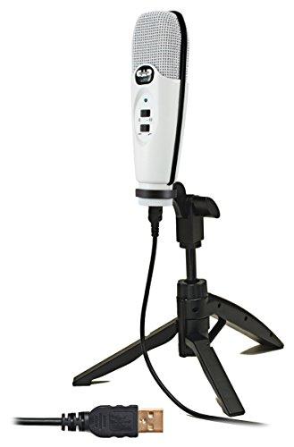 CAD Audio U37SE-W U37 USB Cardioid Condenser Studio Recording Microphone, White (White Condenser Mic compare prices)