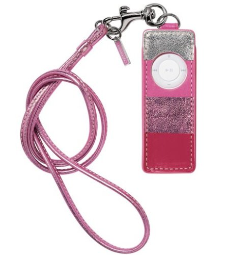 AUTHENTIC COACH PINK LEATHER IPOD SHUFFLE CASE 4320