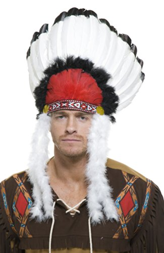 Charades Native American Indian Chief Costume Feather Headdress