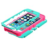 Product B00GZBPA0I - Product title MYBAT TUFF Hybrid Phone Protector Cover for Apple iPhone 5/5S - Retail Packaging - Teal Green/Electric Pink