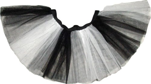 Uv Neon White Black Stripe Tutu Skirt Petticoat Fancy Costume Dress Party