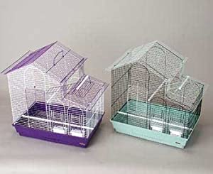 Prevue Pet Products BPV41615 2-Pack House Style Cockatiel Cage, Colors Vary