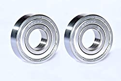 Best Quality Ball Bearing for Industrial, Automobile & General Purpose. (Pack of TWO Bearings) Model :- 6203-ZZ, SIZE : ID-17mm/OD-40mm/THICK-12mm. MAA-KU