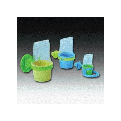 """Clean Cup Bird Feed and Water Cup Size: Medium (10.75"""" H x 4"""" W x 6.75"""" D)"""
