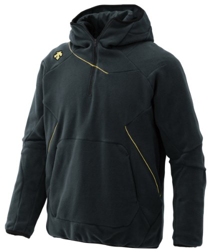 (デサント)DESCENTE フリースジャケット DBX2360 BLK ブラック×スピリットゴールド M