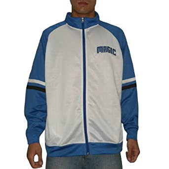 NBA Orlando Magic Mens Athletic Warm Up Track Jacket with Embroidered Logo by NBA