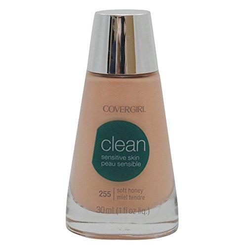 CoverGirl Clean Sensitive Skin Liquid Makeup, Soft Honey (W) 255, 1.0 Ounce Bottle