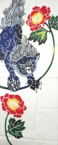 �yf�yaj9m�i)�ki�ki�-._粋手拭い 狮子牡丹 帯巻