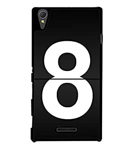 No 8 2D Hard Polycarbonate Designer Back Case Cover for Sony Xperia T3