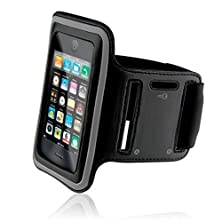 buy Black Neoprene Sports Workout Case Fitness Running Gym Arm Band Strap For Alltel Sony Ericsson Xperia Play - At&T Iphone 5 - At&T Iphone 5C - At&T Iphone 5S - At&T Htc Tilt 2