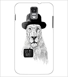 PrintDhaba Lion Sketch D-1060 Back Case Cover for SAMSUNG GALAXY S5 (Multi-Coloured)