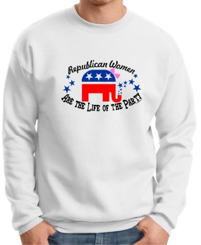 Republican Women Are The Life Of The Party Premium Crewneck Sweatshirt Medium White