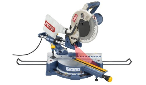 Factory-Reconditioned Ryobi ZRTSS101L 13 Amp 10-in Sliding Compound Miter Saw with Laser