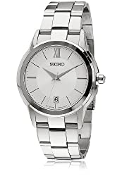 Seiko Analog Silver Dial Unisex Watch - SGEF41P1
