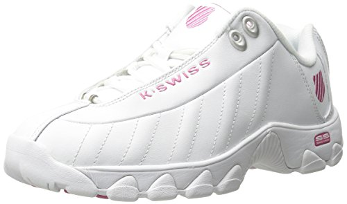 K-Swiss Women's ST329 CMF Trainer Lifestyle Sneaker, White/Shocking Pink, 7 M US