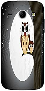 Snoogg Owl Sit On Branch With Baby Owl Solid Snap On - Back Cover All Around ...