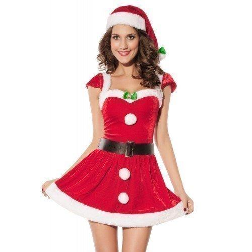 Sexy Da Donna Signora Miss Christmas Santa Mazzo the Halls Natale Costume Travestimento EU 42.5-47