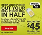 Official Straight Talk SIM Card for AT&T or T-Mobile