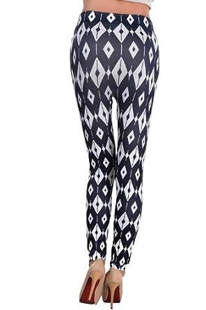 Amour- Women Popular Animal Pattern Ankle Length Footless Legging Tregging Tight (Plaid)
