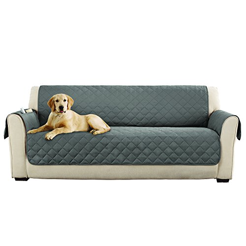 sofa microfiber pet pinsonic faux quilting cover gray furniture sofas
