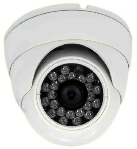 Aleko® In30 White Color Cctv Security Camera 600 Tvl High Resolution Vandalproof Turret Dome Cameras Ir 3.6Mm
