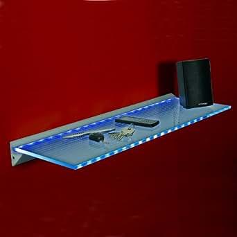 led glasregal wandregal leuchtregal g shelf 80 cm weiss blau beleuchtung. Black Bedroom Furniture Sets. Home Design Ideas