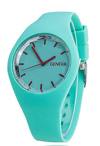 Marvelous Mint Thin Form Silicone Jelly Watch Mint Green Candy Colors (Silicone Jelly Watch For Men compare prices)