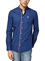 Jimmy Sanders Camisa Hombre (Azul Oscuro)