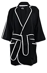 Sutton Studio Womens Double Knit Wide Sleeve Topper Jacket (Medium, Bl...