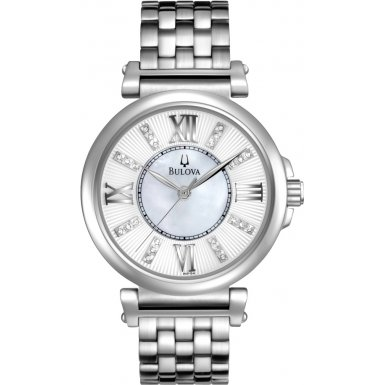 Bulova 96P134 Ladies Diamonds Silver Watch