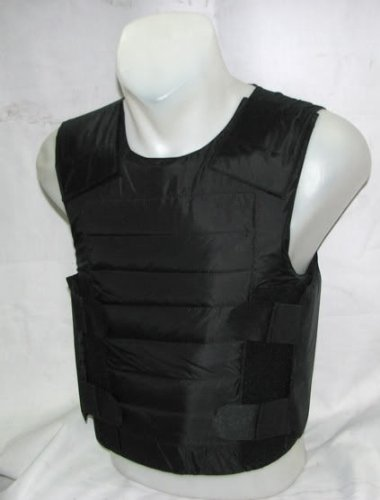 Concealed Bullet Proof Body Armor Vest VIP Style Protection Level 3A with Anti Stab/Stab Resistant/Stab Proof Plates 24 Joules Size XL
